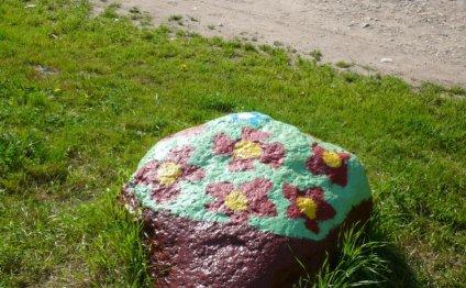 Пример раскрашенного камня для