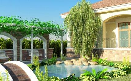 Ландшафтный дизайн садового