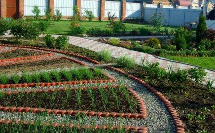 Оформление огорода своими