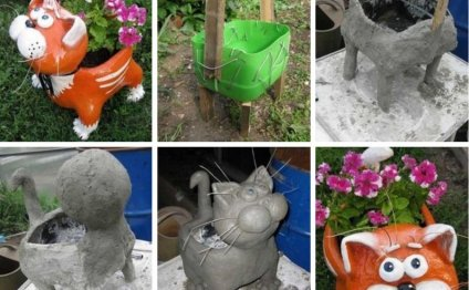Забавные фигурки для сада